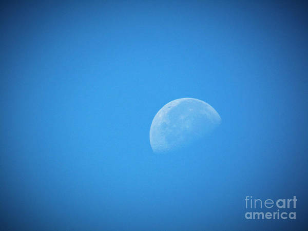 Photograph - Day Time Moon 2 by Robert Knight