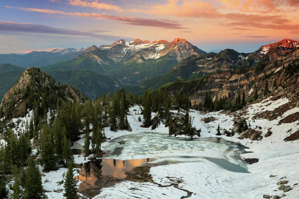 Alpine Lakes Wilderness Photograph - Daybreak Above Silver Lake. by Johnny Adolphson