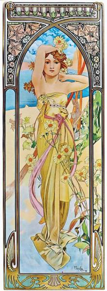 Painting - Daybreak by Alphonse Mucha