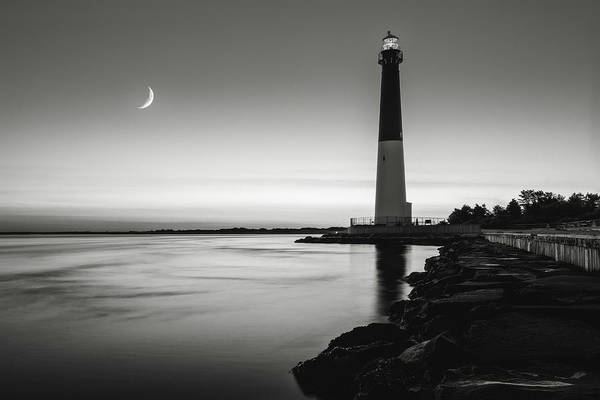 Wall Art - Photograph - Daybreak At Barnegat, Black And White by Eduard Moldoveanu