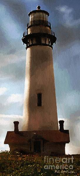 Painting - Daybreak At Pigeon Point by RC DeWinter