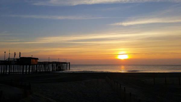Photograph - Daybreak At The Pier by Robert Banach