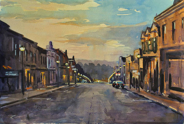 Wi Painting - Daybreak In Mineral Point by Spencer Meagher