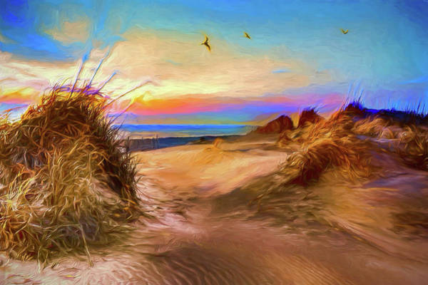 Wall Art - Painting - Daybreak On The Outer Banks Ap by Dan Carmichael