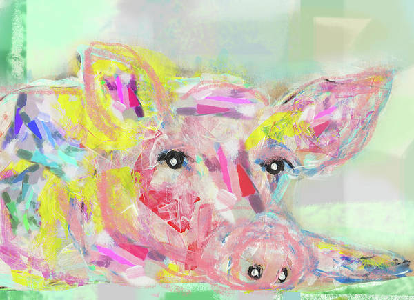 Neon Pink Painting - Daydream by Claudia Schoen