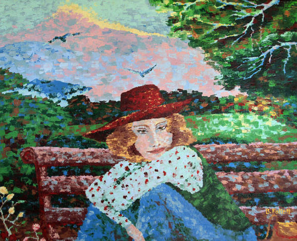 Painting - Daydreamer In The Square by Bonnie Follett