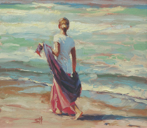 Sand Wall Art - Painting - Daydreaming by Steve Henderson