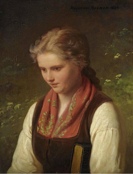 Meyer Painting - Daydreams  by Johann Georg Meyer von Bremen