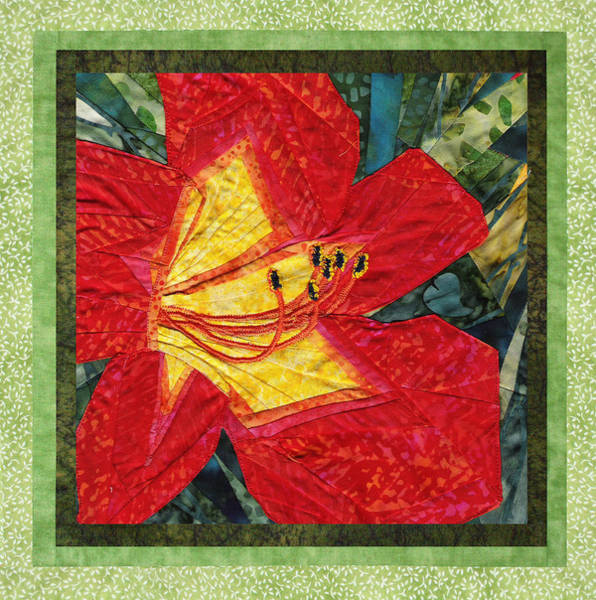 Wall Art - Mixed Media - Daylily Day by Lee Baker DeVore
