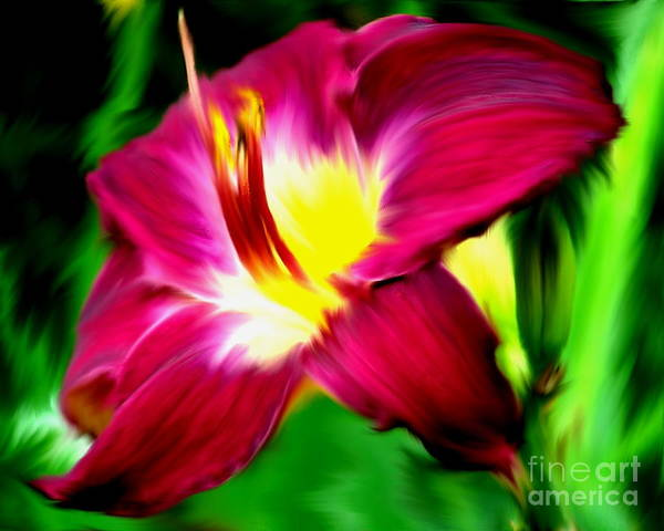 Painting - Daylily by Smilin Eyes  Treasures