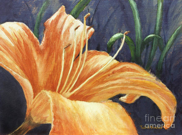 Painting - Daylily by Todd Blanchard