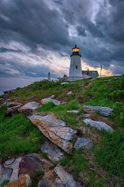 Photograph - Day's End At Pemaquid Point by Rick Berk