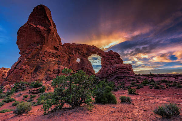 Juniper Photograph - Day's End At Turret Arch by Rick Berk
