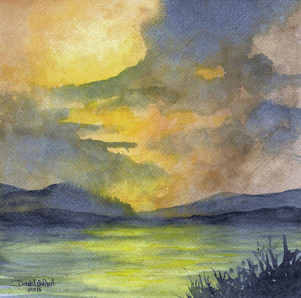 Wall Art - Painting - Days End by David G Paul