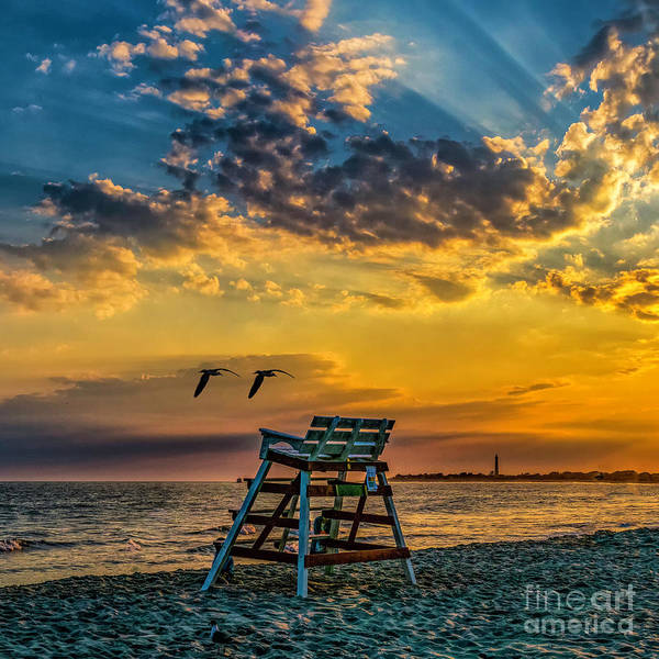 Days End In Cape May Nj Art Print