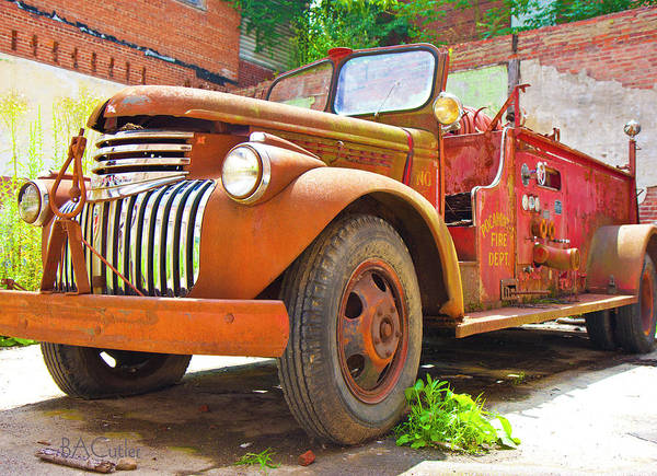 Firetruck Photograph - Days Of The Past by Betsy Knapp