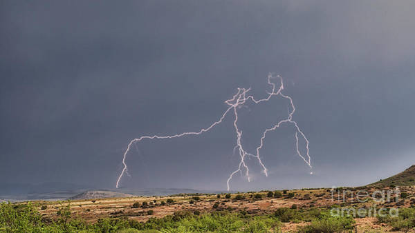 Photograph - Daytime Lightning by Mark Jackson