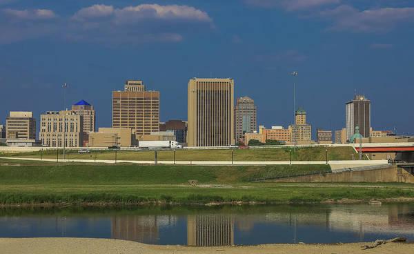 Photograph - Dayton Ohio Grunge Reflection by Dan Sproul