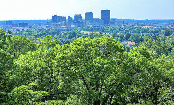 Photograph - Dayton Skyline In Summer From Woodland by Dan Sproul