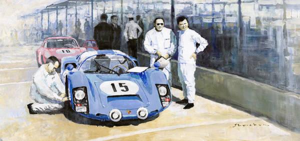 Sports Car Painting - Daytona 1966 Porsche 906 Herrmann-linge by Yuriy Shevchuk