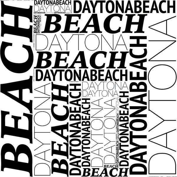 Digital Art - Daytona Beach by Alice Gipson