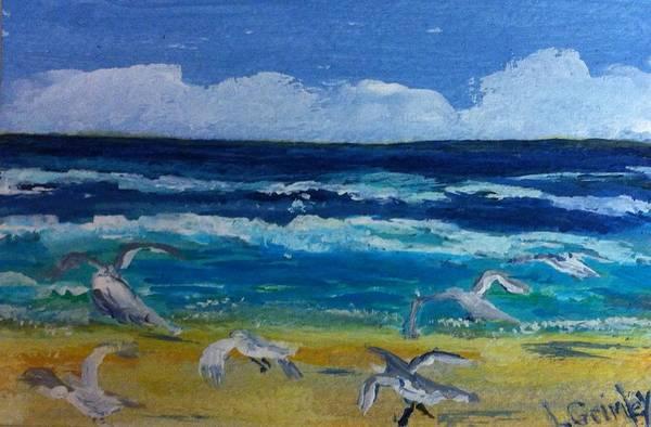 Wall Art - Painting - Daytona Beach by Lessandra Grimley