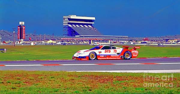 Photograph - Daytona Speedway Sun Bank 24hr Pontiac Firebird Gtp by Tom Jelen