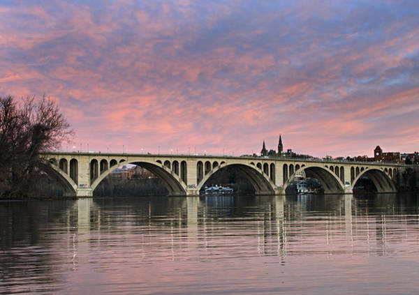 Wall Art - Photograph - Dc Sunrise Over The Potomac River by Brendan Reals