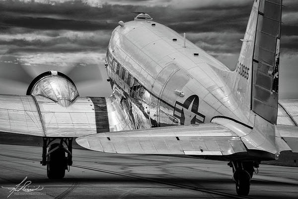 Wall Art - Photograph - Dc3 Taxiing For Departure by Philip Rispin