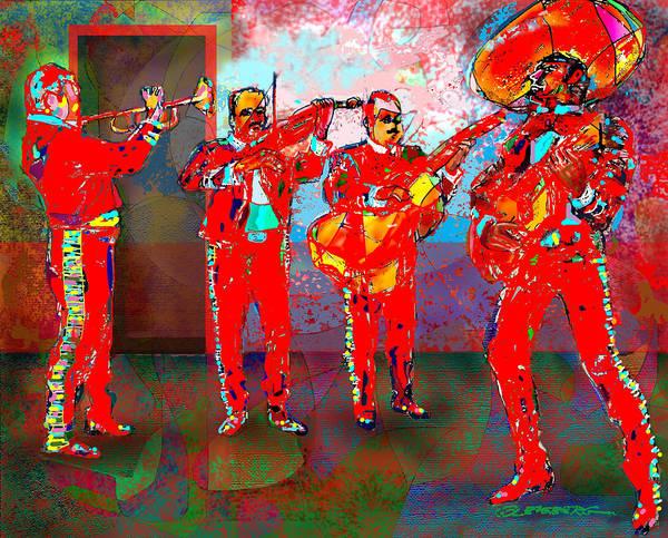 Mariachi Painting - De Colores by Craig A Christiansen