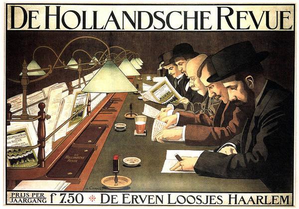 Revue Wall Art - Mixed Media - De Hollandsche Revue - Dutch Journal - Vintage Advertising Poster by Studio Grafiikka