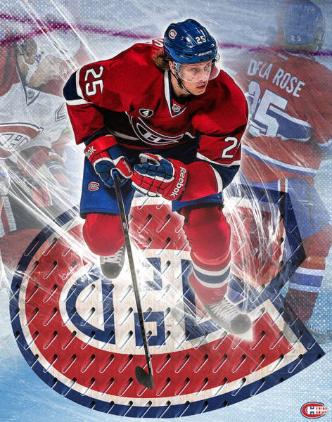 Montreal Canadiens Digital Art - De La Rose Poster Print by Nicholas Legault