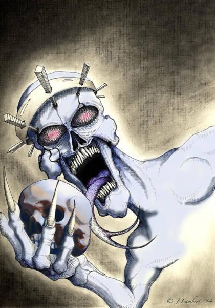 Demonic Drawing - Dead Crown by J P Lambert