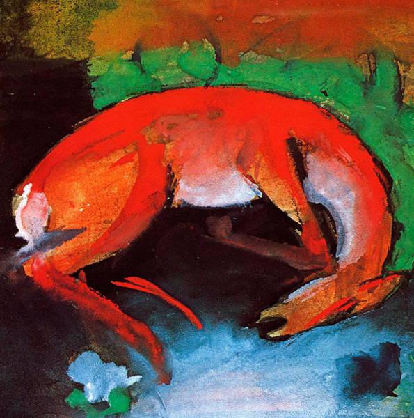 Franz Painting - Dead Deer by Franz Marc