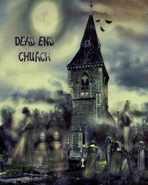 Digital Art - Dead-end Church by Pennie McCracken