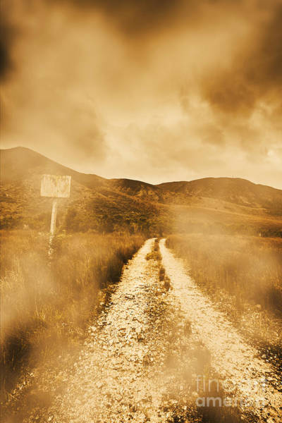 Dusty Photograph - Dead End Road by Jorgo Photography - Wall Art Gallery