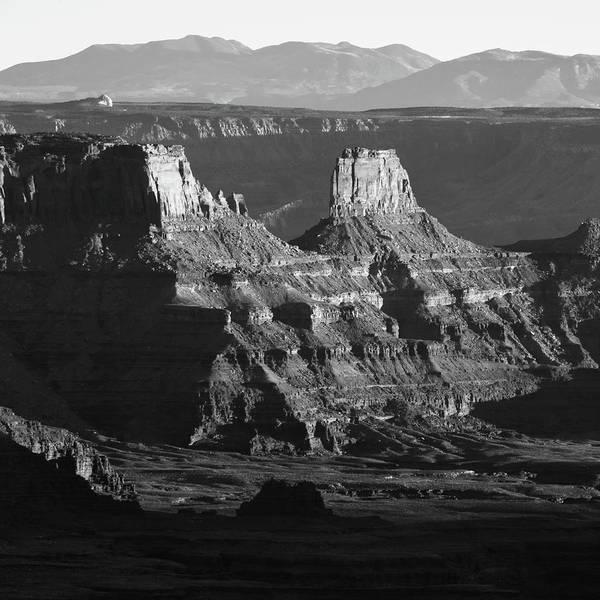 Photograph - Dead Horse Point Monochrome - Utah Mountain Landscape by Gregory Ballos