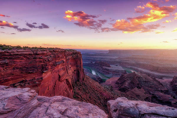White Horse Wall Art - Photograph - Dead Horse Point Sunset by Darren White