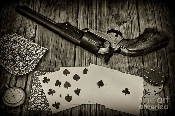 Wall Art - Photograph - Dead Mans Hand Black And White by Paul Ward