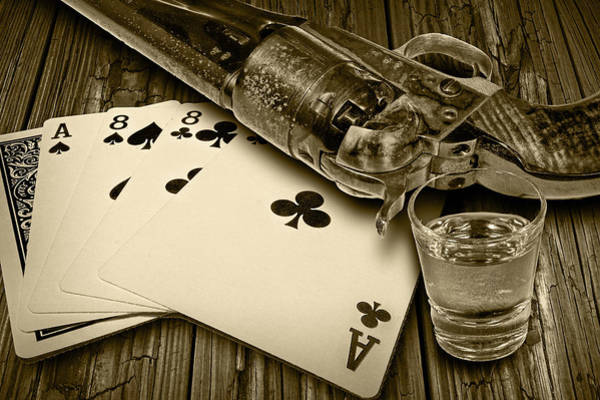 Photograph - Dead Man's Hand In Sepia by Randall Nyhof