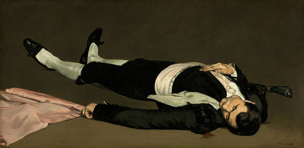 Wall Art - Painting - Dead Toreador by Edouard Manet