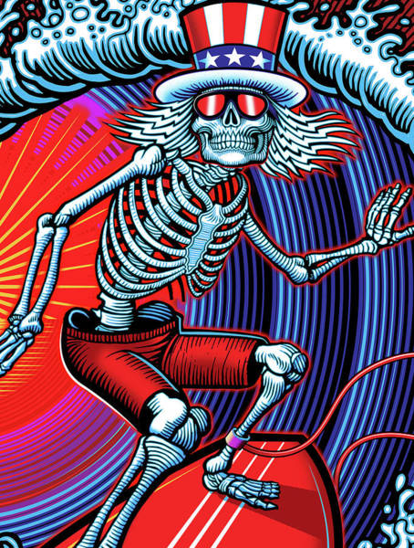 Wall Art - Digital Art - Deadhead Surfer by The Bear
