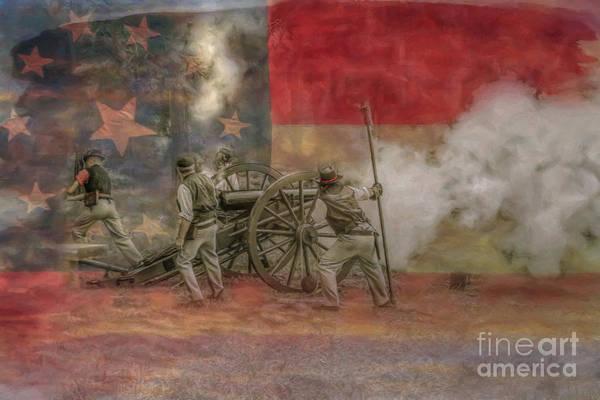 Work Of Art Digital Art - Deadly Work To Do Civil War Cannon by Randy Steele