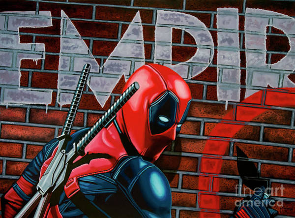 Francis Painting - Deadpool Painting by Paul Meijering