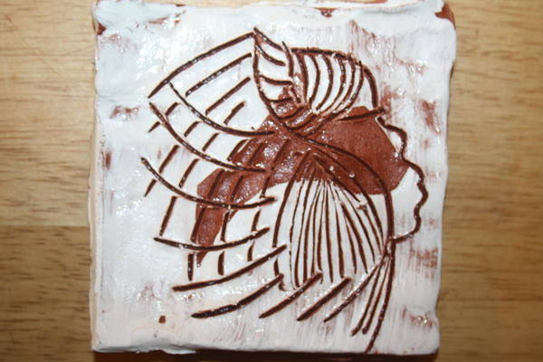 Ceramic Art - Dean - Tile by Gloria Ssali