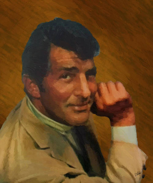 Painting - Dean Martin 01 by Dean Wittle