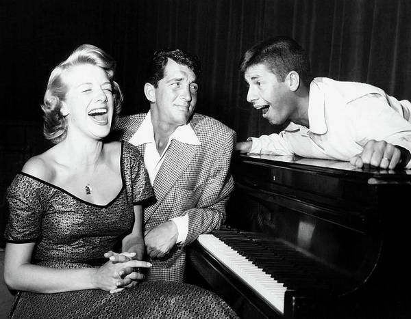 Colgate Wall Art - Photograph - Dean Martin And Jerry Lewis With Rosemary Clooney 1950s by Mountain Dreams