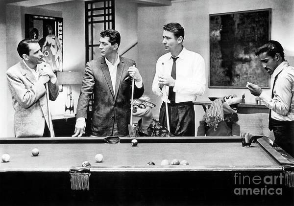 Photograph - Dean Martin, Frank Sinatra, Sammy Davis Jr. With The Muppets by Doc Braham