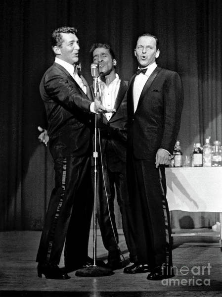 Dean Martin, Sammy Davis Jr. And Frank Sinatra. Art Print