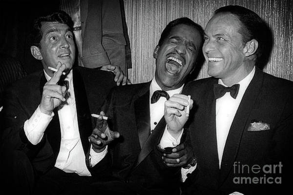 Dean Martin, Sammy Davis Jr. And Frank Sinatra Laughing Art Print